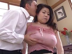 Busty Mizuno has a very hairy pussy that needs some special attention