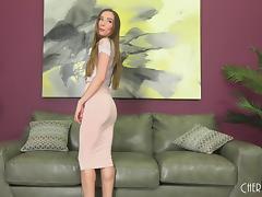 Strip, Flexible, Masturbation, Nylon, Orgasm, Pretty