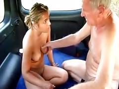Old guy with prostittute in his car porn tube video