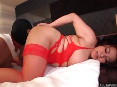 Fat Asian girl with big boobs rides the dick of her masked partner tube porn video