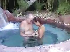 Asian pool blowjob older man porn tube video