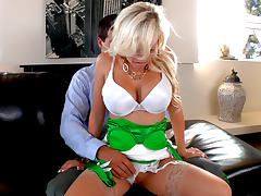 Boss, Big Tits, Blonde, Boss, Office, Stockings