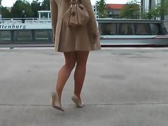 Classy, Classy, College, Heels, Outdoor, Voyeur