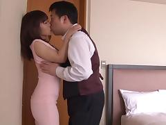 Japanese dude sucking her titties and fucking her pussy porn tube video