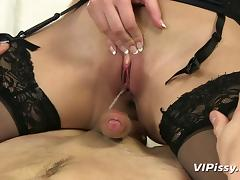 He pisses in her mouth before bending her over and fucking her tube porn video