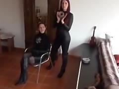 Show how to do tape bondage tube porn video