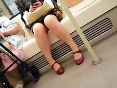 Mature woman legs walking stairs
