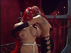 Dominatrix masturbates for her slaves tube porn video