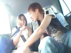 Sucking and fucking in public drives Akari Asahina wild