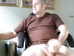 Hot fag is jerking off at home and memorializing himself on web cam