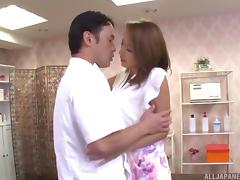 Massage clinic visit for a horny hardcore Japanese girl