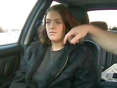 Girl orgasms while made to get naked in car in public porn tube video