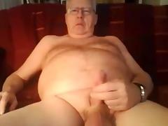 Grandpa stroke and cum on cam 2