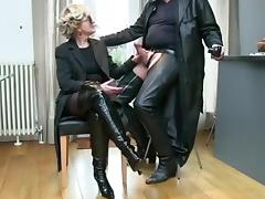 British, Blowjob, Boots, British, Cum, Mature