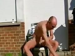 Shaving myselfoutsidein my backyard tube porn video