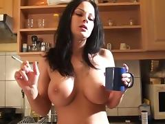 Excellent phrase Big boobs brunette smoking a cigarette