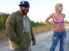 Horny blonde slut gags on a nice cock porn tube video