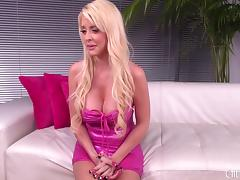 Fake tits babe fucking and hot facial cumshot live