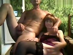 Mature Beautifulwoman licks cock