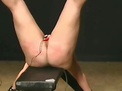 harsh BDSM caning electriciy in pusy and waxed porn tube video
