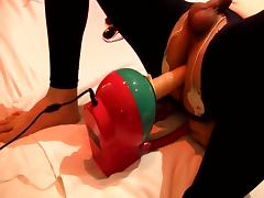 Prostate orgasm with electro Facking machine