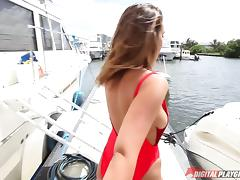Reality, Big Tits, Blowjob, Boat, Couple, Cowgirl