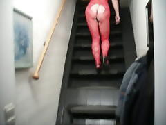 My wife in fishnet tube porn video