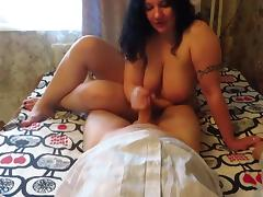 Russian BBW ride on inmate's cock tube porn video