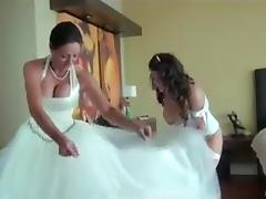 Bride, Big Tits, Bride, Brunette, Wedding, Married