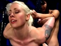 She gets air banged by her domina as she hangs from the ceiling tube porn video