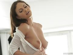 Pretty British girl with gorgeous titties fucked up the ass tube porn video