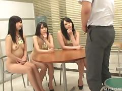 nerd japanese man gets examined and sucked by his colleagues porn tube video