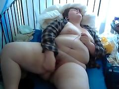 BBW Masturbating porn tube video