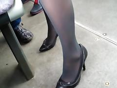 Boots, Boots, Bus, Heels, Hidden, Latex