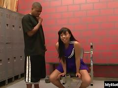 Cheerleader, Cheerleader, Chubby, Couple, Ebony, Hardcore