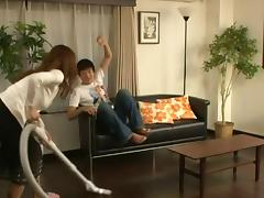 Japanese sweetheart gets the deep penetration on the softest bed