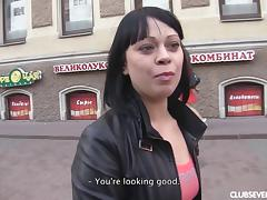 Cute Czech chick off the street fucks for her casting porn