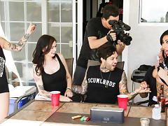 Joanna Angel in Between Scenes Hang Out Sex 2, Scene #01 - BurningAngel