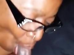 Ebony Mature Sucks Small Black Cock SBC