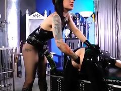 Gigantic monster strapon fucking by mistress porn tube video