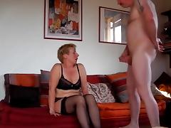 Milf sucks fucks and squirts