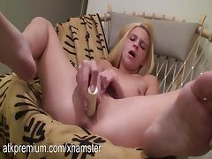 Destiny fingers her tight pussy and toys her clit porn tube video
