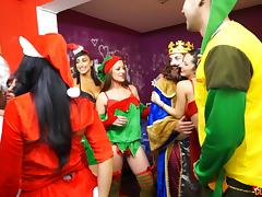 Colorful orgy session with some of the most curvaceous babes ever