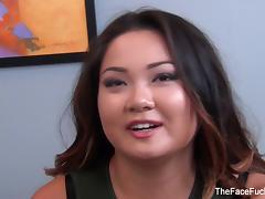 Asian brunette Gigi Skye gets face fucked porn tube video