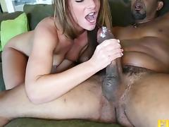 Graceful white chick has her tight asshole shagged by the ebony dick