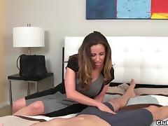 Milf long socks handjob porn tube video