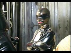 Master and slave chick in a BDSM scene tube porn video