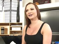 Chocolate guy provides the white sex goddess with a nice anal drilling porn tube video