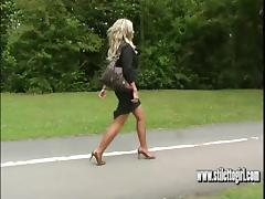 Boots, Blonde, Boots, Heels, Nylon, Sex