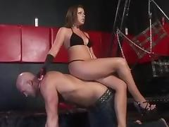 Horny mistress fucking and allowing her slave to fuck her